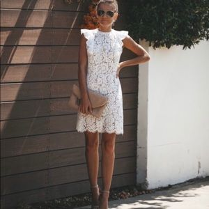 Vici White Lace Dress